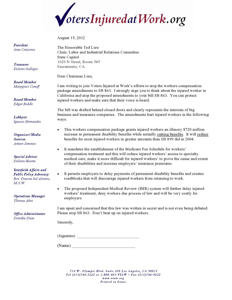 Work Comp SB 863 Legislation